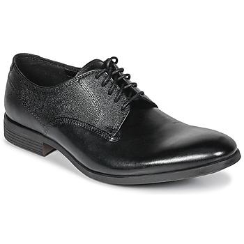 Sapatos Homem Sapatos Clarks GILMORE Preto / Pele
