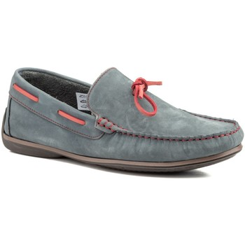 Sapatos Homem Mocassins Sachini Shoes Mocasin de hombre de piel by Comodo Sport Azul