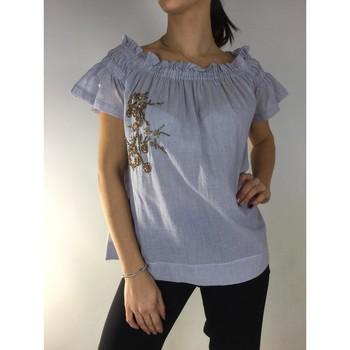 Textil Mulher Tops / Blusas Kocca Blusa CHAANG Azul