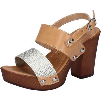 Sapatos Mulher Sandálias Made In Italia Sandálias BY516 Prata