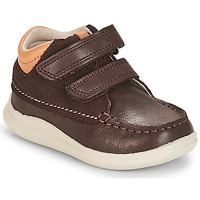 Sapatos Rapaz Sapatilhas de cano-alto Clarks Cloud Tuktu Castanho