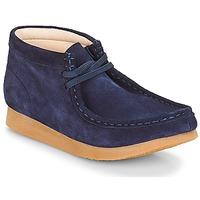 Sapatos Criança Botas baixas Clarks Wallabee Bt Navy