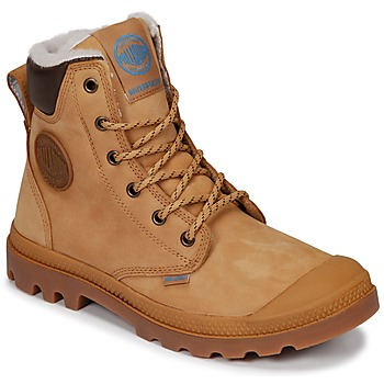 Sapatos Botas baixas Palladium PAMPA SPORT CUFF WPS Amarelo / Castanho