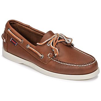 Sapatos Homem Sapato de vela Sebago DOCKSIDES FGL Castanho