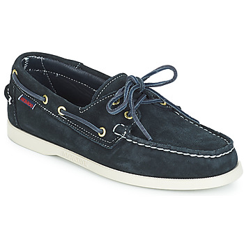 Sapatos Homem Sapato de vela Sebago DOCKSIDES SUEDE Marinho