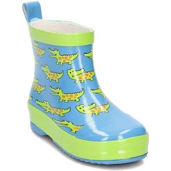 Sapatos Criança Botas de borracha Playshoes 1803747 Verde claro,Azul