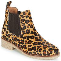 Sapatos Mulher Botas baixas Bensimon BOOTS CREPE Leopardo