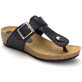 Sapatos Mulher Sandálias Cbp - Conbuenpie Sandalia de piel de mujer by TROPPA (R.ST) Negro