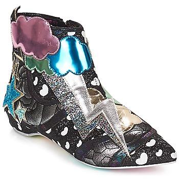 Sapatos Mulher Botas baixas Irregular Choice Electric boots Preto / Prata