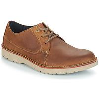 Sapatos Homem Sapatos Clarks VARGO PLAIN Castanho