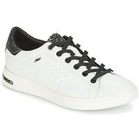 Sapatos Mulher Sapatilhas Geox JAYSEN Branco / Prata