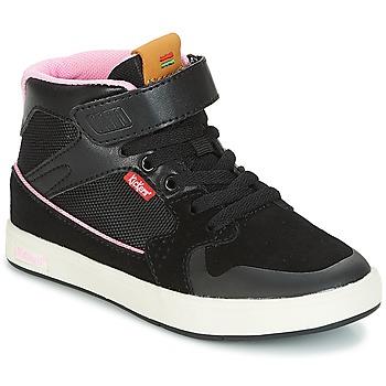 Sapatos Rapariga Sapatilhas de cano-alto Kickers GREADY MID CDT Preto / Rosa