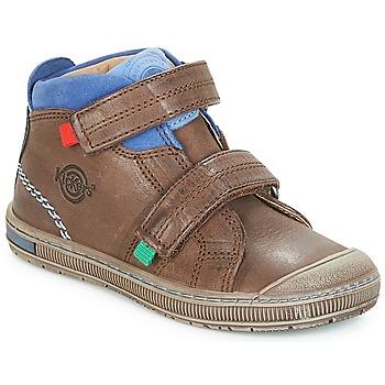 Sapatos Rapaz Sapatilhas de cano-alto Kickers IGUTO Castanho
