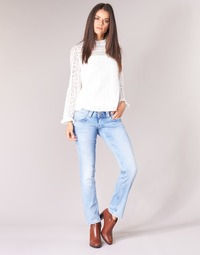 Textil Mulher Calças Jeans Pepe jeans VENUS Azul / Claro
