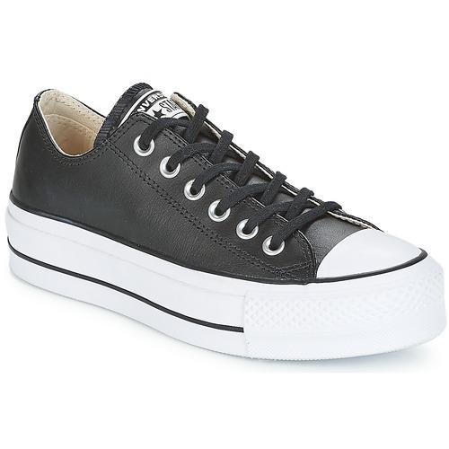 Sapatos Mulher Sapatilhas Converse CHUCK TAYLOR ALL STAR LIFT CLEAN OX Preto / Branco