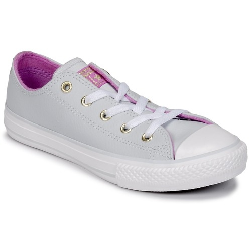 Sapatos Rapariga Sapatilhas de cano-alto Converse CHUCK TAYLOR ALL STAR HI Aço / anis / Rosa fúchia  / Brilhante / Branco