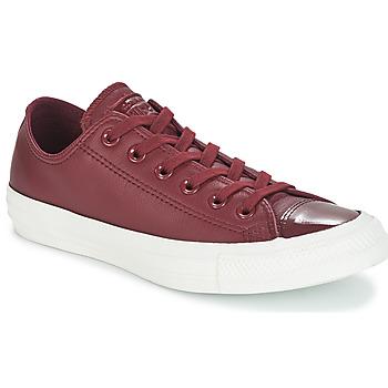 Sapatos Mulher Sapatilhas Converse CHUCK TAYLOR ALL STAR LEATHER OX Bordô