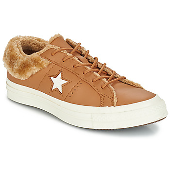Sapatos Mulher Sapatilhas Converse ONE STAR LEATHER OX Camel