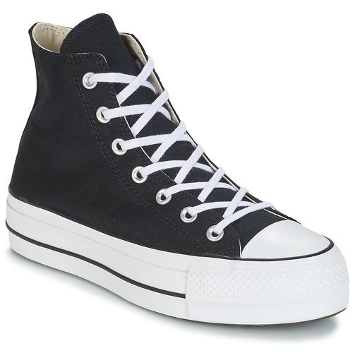 Sapatos Mulher Sapatilhas de cano-alto Converse CHUCK TAYLOR ALL STAR LIFT CANVAS HI Preto
