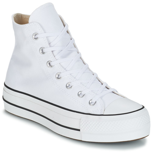 Sapatos Mulher Sapatilhas de cano-alto Converse CHUCK TAYLOR ALL STAR LIFT CANVAS HI Branco