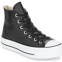 Sapatos Mulher Sapatilhas de cano-alto Converse CHUCK TAYLOR ALL STAR LIFT CLEAN LEATHER HI Preto