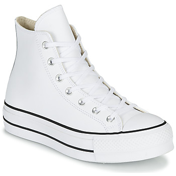 Sapatos Mulher Sapatilhas de cano-alto Converse CHUCK TAYLOR ALL STAR LIFT CLEAN LEATHER HI Branco