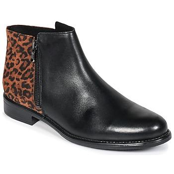 Sapatos Mulher Botas baixas Betty London JINANE Preto / Castanho
