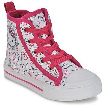 Sapatos Rapariga Sapatilhas de cano-alto Hello Kitty LYNDA Branco