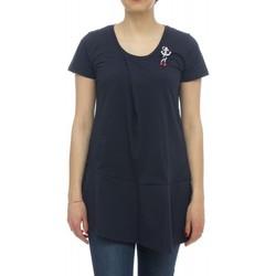 Textil Mulher T-Shirt mangas curtas Kocca T-shirt RIVER Azul