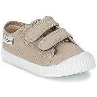 Sapatos Criança Sapatilhas Victoria BLUCHER LONA DOS VELCROS Bege