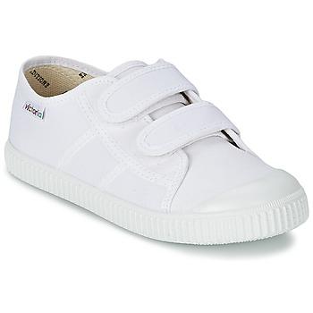 Sapatos Criança Sapatilhas Victoria BLUCHER LONA DOS VELCROS Branco