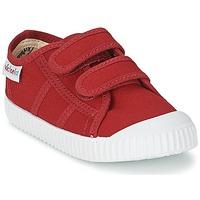 Sapatos Criança Sapatilhas Victoria BLUCHER LONA DOS VELCROS Carmim