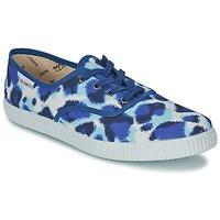 Sapatos Mulher Sapatilhas Victoria INGLESA ESTAMP HUELLA TIGRE Azul