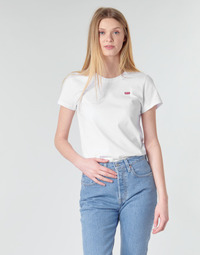 Textil Mulher T-Shirt mangas curtas Levi's PERFECT TEE Branco