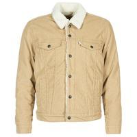 Textil Homem casacos de ganga Levi's TYPE 3 SHERPA TRUCKER Bege
