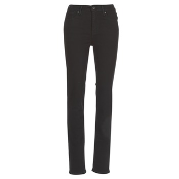 Textil Mulher Calças Jeans Levi's 724 HIGH RISE STRAIGHT Preto