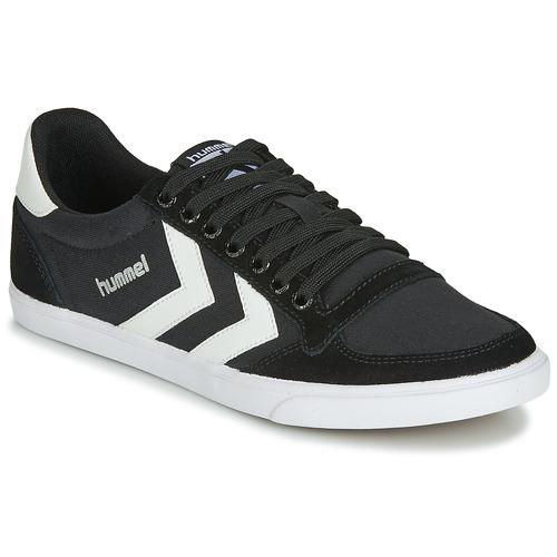 Sapatos Homem Sapatilhas Hummel TEN STAR LOW CANVAS Preto / Branco
