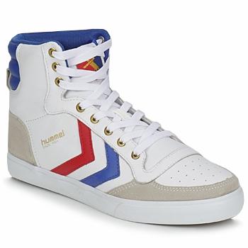 Sapatos Sapatilhas de cano-alto Hummel STADIL HIGH Branco / Azul / Vermelho