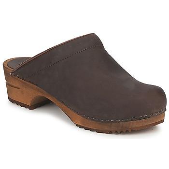 Sapatos Mulher Tamancos Sanita CHRISSY OPEN Castanho