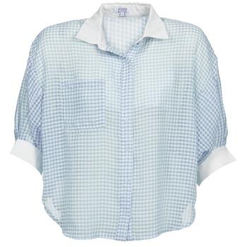Textil Mulher camisas Brigitte Bardot AMARANTE Azul / Branco