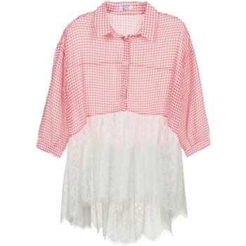 Textil Mulher camisas Brigitte Bardot AMBRE Vermelho / Branco