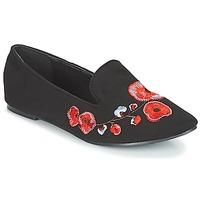 Sapatos Mulher Mocassins Moony Mood JASMINY Preto / Flor