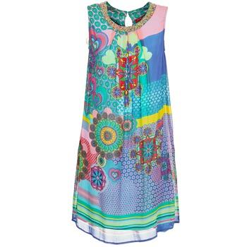 Textil Mulher Vestidos curtos Derhy BARDE Azul / Verde / Multicolor