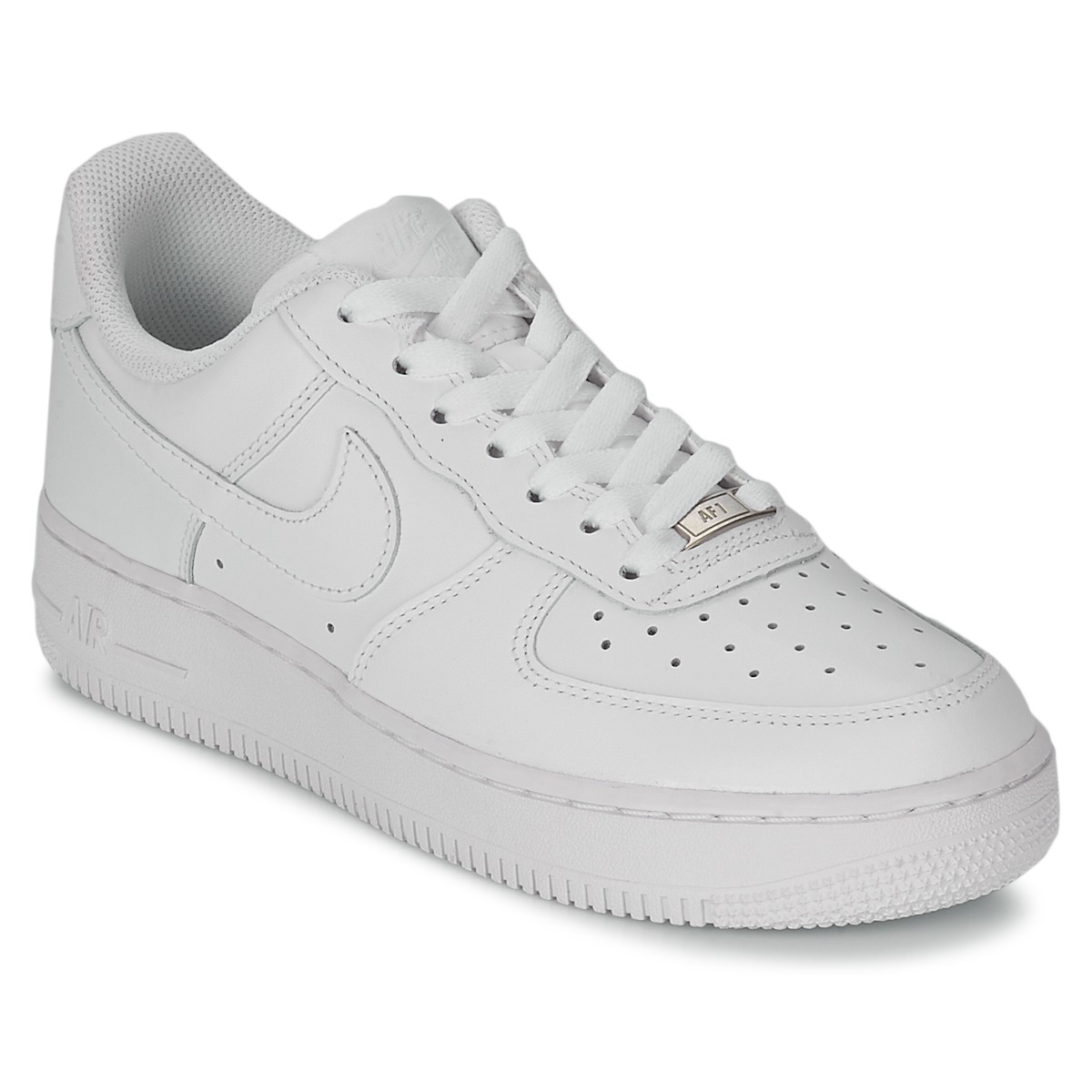 6a0e72ddcb6 Nike AIR FORCE 1 07 LEATHER W Branco - Entrega gratuita com a Spartoo.pt !  - Sapatos Sapatilhas Mulher 103