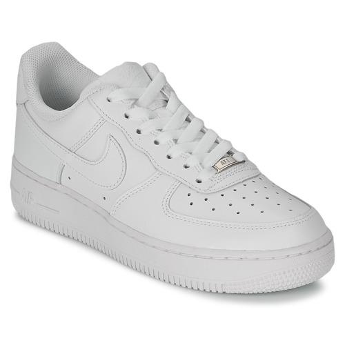 5f78d07d002 Nike AIR FORCE 1 07 LEATHER W Branco - Entrega gratuita com a ...