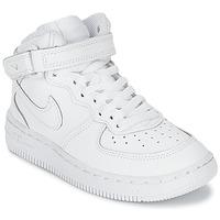 Sapatos Rapaz Sapatilhas de cano-alto Nike AIR FORCE 1 MID Branco