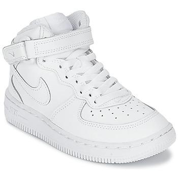 Sapatos Criança Sapatilhas Nike AIR FORCE 1 MID Branco