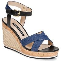 Sapatos Mulher Sandálias French Connection LATA Azul / Ganga