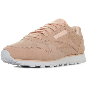 Sapatos Mulher Sapatilhas Reebok Sport Classic Leather Woven Emb Rosa