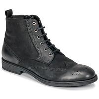 Sapatos Homem Botas baixas Geox U JAYLON Preto